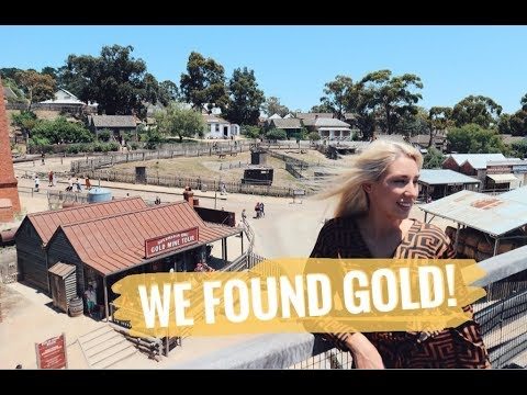 PRONASLA SAM ZLATO! | Road trip to Sovereign Hill : Gold panning!