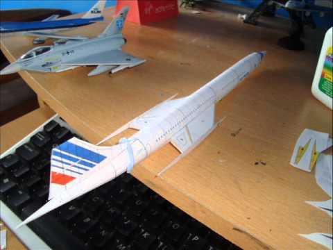 Papercraft Paper Model Concorde