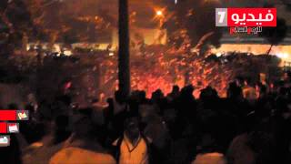 حريق فى إحدى الحدائق المواجهة لقصر القبة