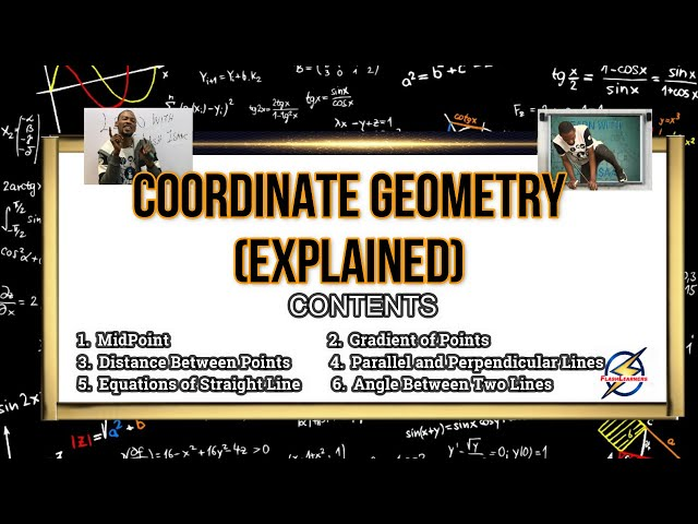 Coordinate Geometry Explained For Schools, Jamb And Waec