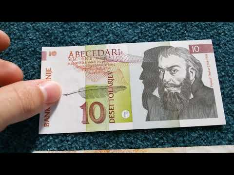 Pre Euro Currencies Part 5 Slovenia Slovenije Tolarjev
