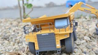 dump truck komatsu HD 785 papercraft