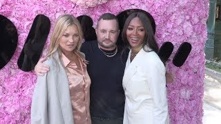 Naomi Campbell, Kate Moss, Lenny Kravitz and more backstage after the Dior Homme Fashion Show in Par