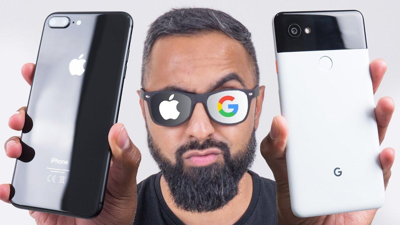 google pixel 2 xl dimensions vs iphone 8 plus