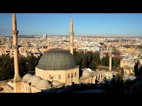 Multiple Azans for Asar Prayers at Ancient City of Urfa Southeastern Turkey