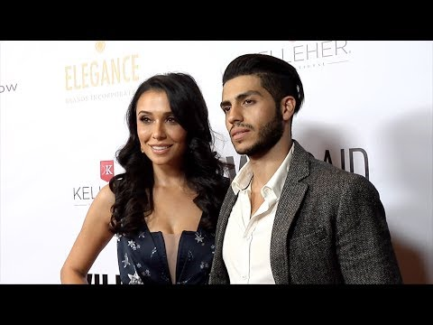 Emily Shah And Mena Massoud 2019 WildAid Gala A Night In Africa Red Carpet