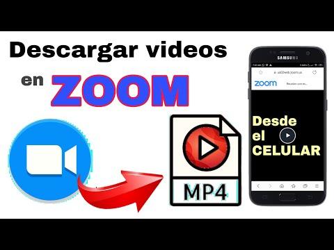 Cómo descargar video de Zoom desde el celular en MP4
