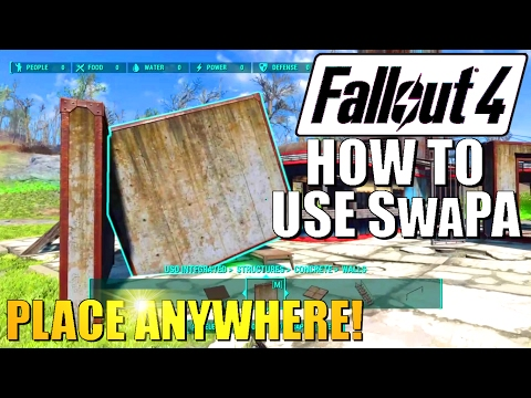 Fallout 4 - SwaPA Mod Tutorial - How To Use Place Anywhere Mod for PS4