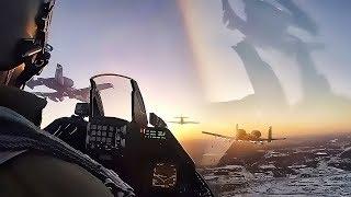 F-16 Cockpit Video Of Super Bowl LII Flyover (2018)