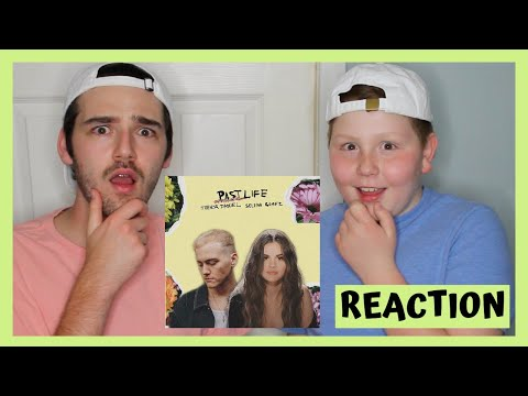 Trevor Daniel, Selena Gomez - Past Life | REACTION (with my 10 year old brother)