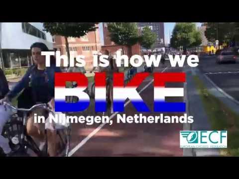 Bike ride in Nijmegen, the Netherlands