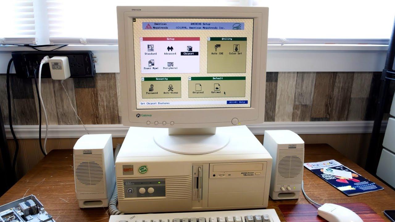 Testing and Exploring a Quantex 486DX PC