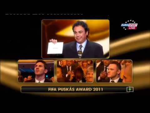 NEYMAR Winner The FIFA Puskas Award 2011