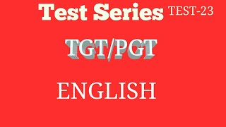 TGT/PGT/LTGIC English Objective Questions..