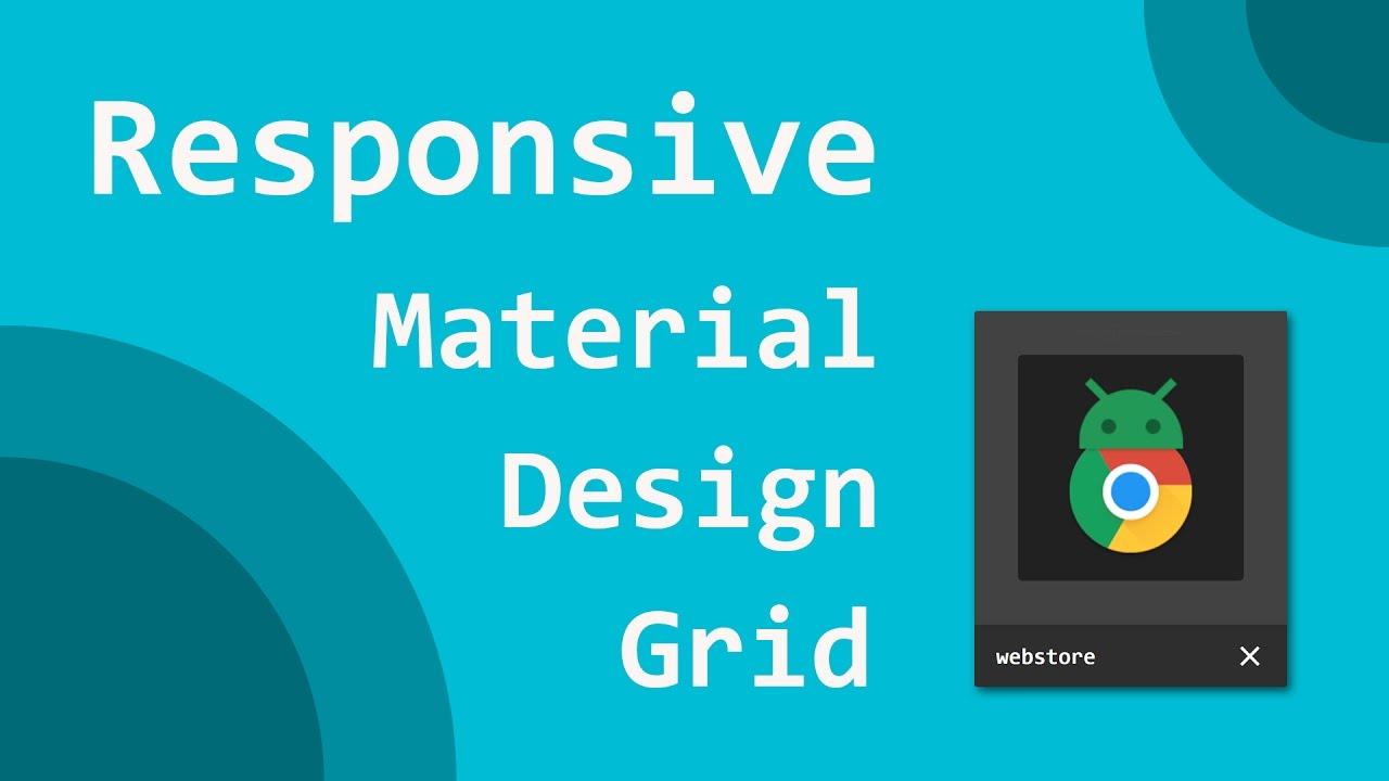 Create Responsive Material Card Grid