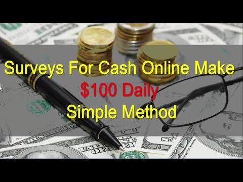 Surveys For Cash Online Make $100 Daily : Simple Method