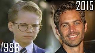 Paul Walker (1986-2015) all movies list from 1986! How much has changed? Before and Now!