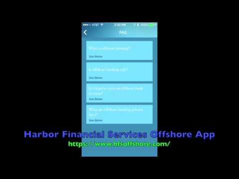 Harbor Financial Services Offshore App for offshore banking