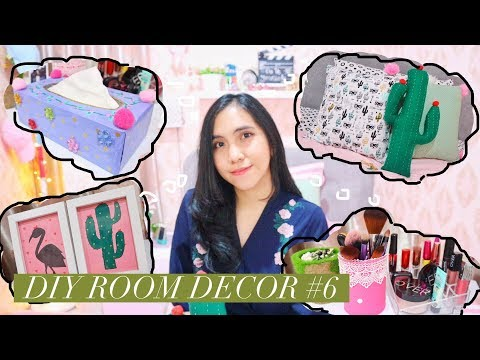 DIY ROOM DECOR INDONESIA #6 - 4 DIY Room Decorating Ideas