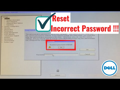 How To Reset Forgotten BIOS Password -  Dell Latitude Series, All In One Series  Aio 3030