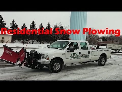 Residential Snow Plowing Estimating