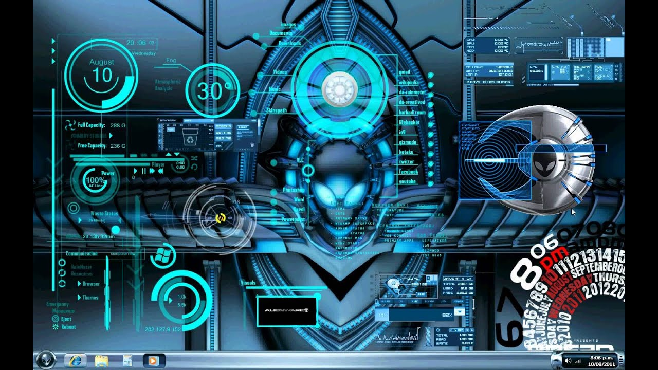 Best 3d Live Wallpaper Android 2015 Alienware Guise Desktop Theme And Installation For Windows