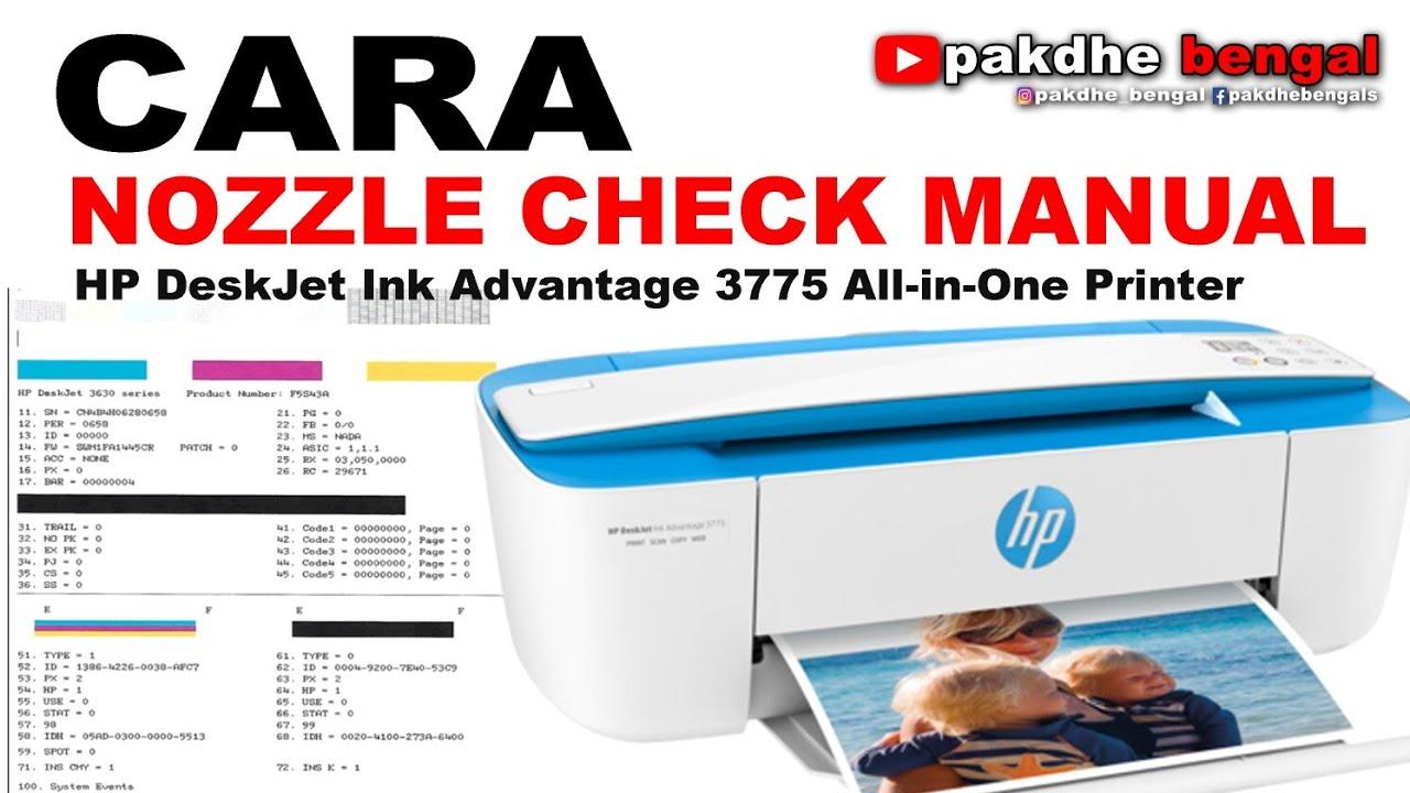 Cara Nozzle Check Manual Hp3775 How To Manual Nozzel Check Hp3775