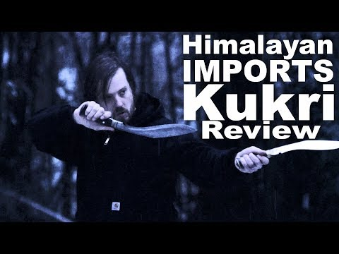 2 Himalayan Imports Kukri Reviewed, Compared, and Field Used. Or chopping wood with the Ang Khola