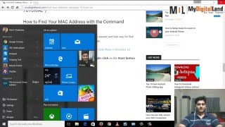 How to Find Your MAC Address in Windows 10 & Your PC {*2 Easy Tricks*}