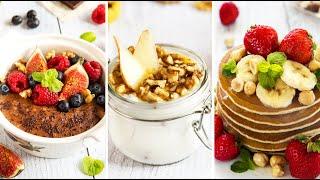 ЗАВТРАК НА СКОРУЮ РУКУ // Шоколадная каша, мацони с фруктами, гренки, красивая яичница и панкейки
