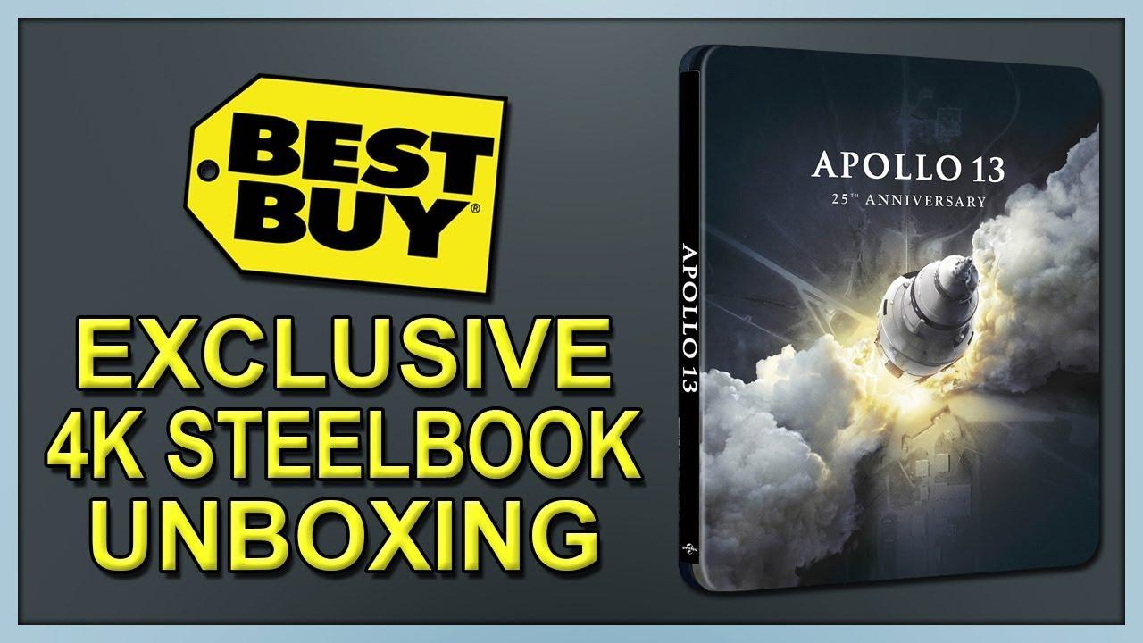 Download Apollo 13 Best Buy Exclusive 4K+2D Blu-ray SteelBook Unboxing