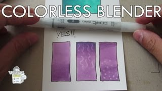 How to use Copic Colorless Blender 0