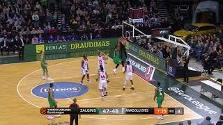 EuroLeague 9. Hafta: Zalgiris Kaunas - Anadolu Efes