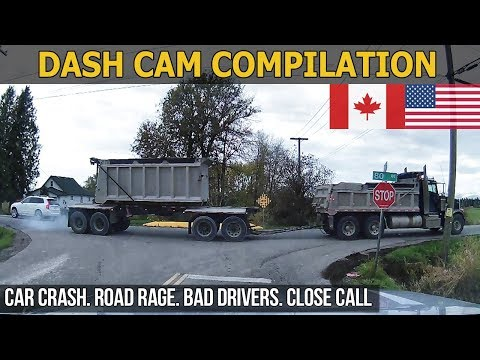 Dash Cam Compilation (USA & Canada) Car Crashes in America, bad drivers, Road Rage 2017 # 57