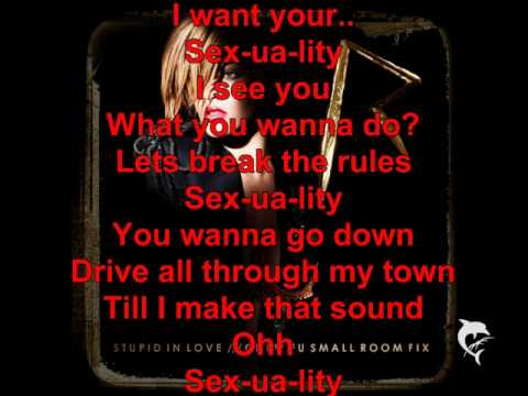 Rihanna - Sexuality with Lyrics on Screen