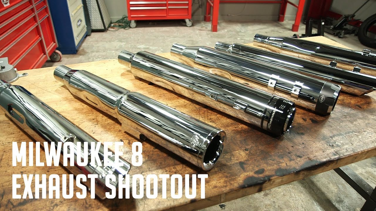 milwaukee 8 slip on exhaust shoot out