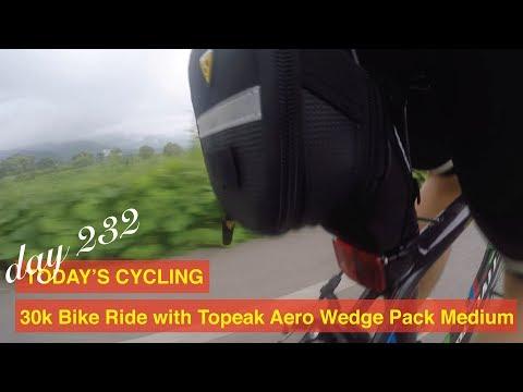 Day 232 Today's Cycling: 30k Bike Ride with Topeak Aero Wedge Pack Medium