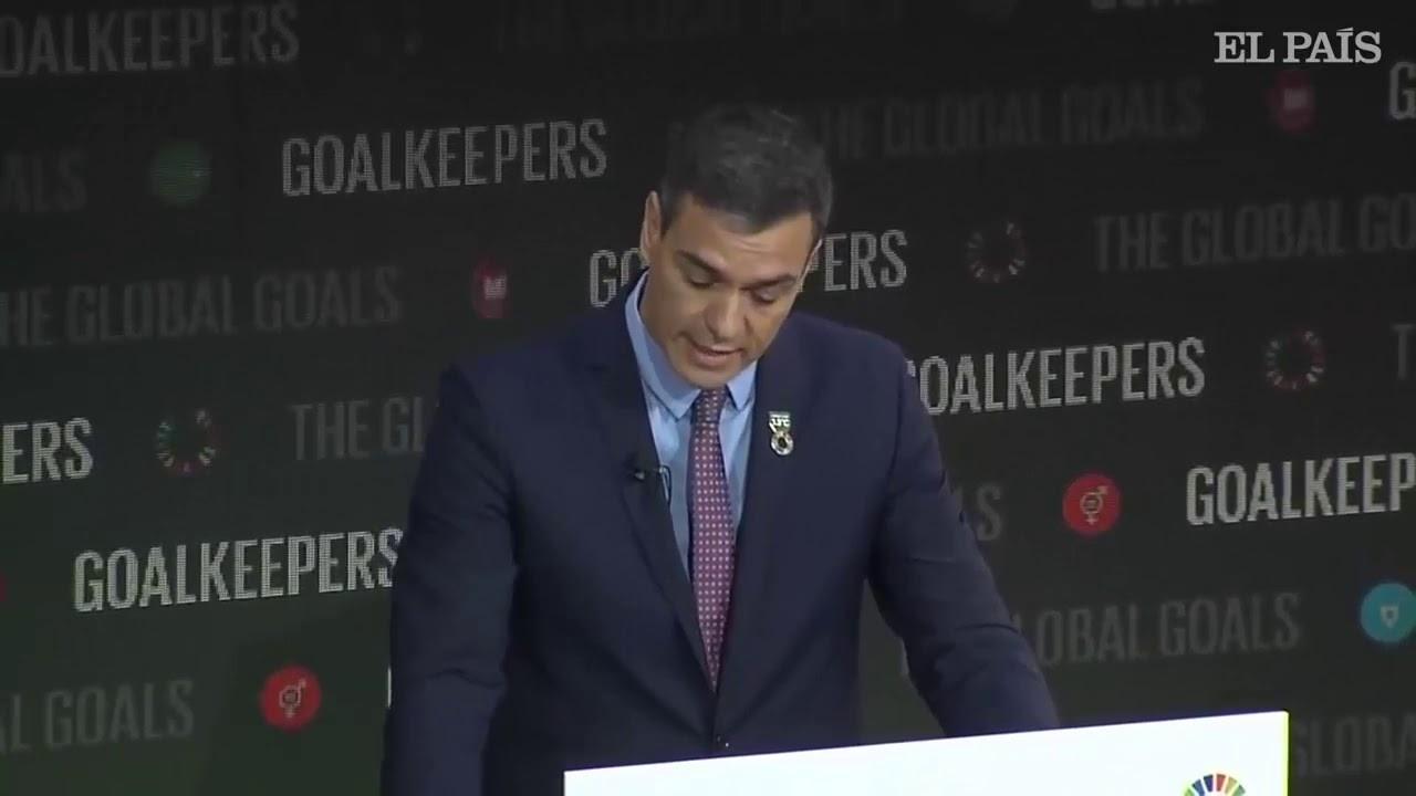 Pedro Sánchez en la Fundación Bill Gates dona 200 millones de euros