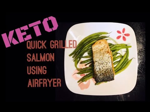 grilled-salmon-with-string-beans,-keto