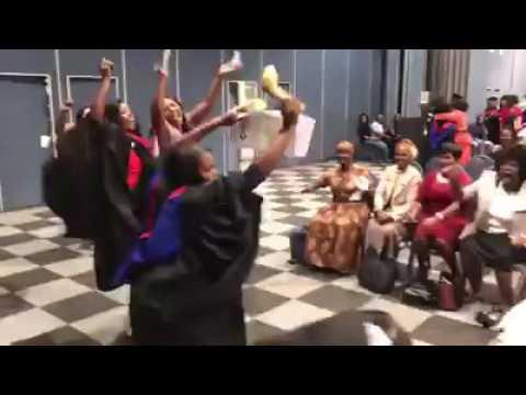 Black South African Graduation Ceremony
