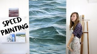 Speed Painting Time Lapse Waves