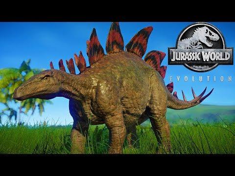 Jurassic World Evolution Herbivores Dinosaurs ( NO Dinosaurs Fighting ) |