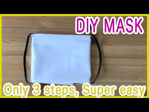 Emergency! [Without Ruler, No Sew] Only 3 Steps! [SUPER EASY] How To Make A FACE MASK