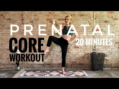 20 Minute Prenatal Core Workout | First & Second Trimester | Low Impact!