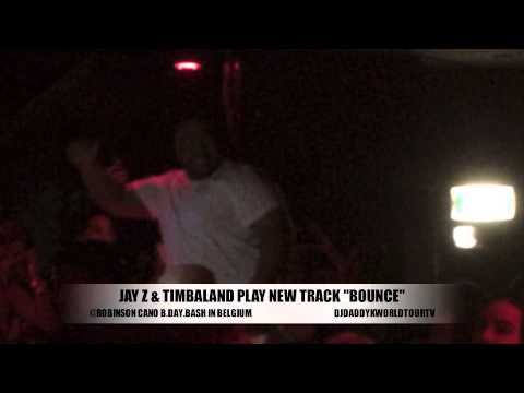 "JAY Z & TIMBALAND NEW TRACK "" BOUNCE"" FROM SHOCK VALUE 3 PLAY AT ROBINSON CANO BDAY BASH IN BELGIUM"