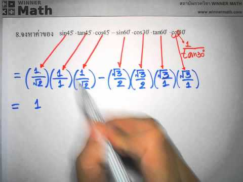 กวดวิชาออนไลน์WINNERMATHอัตราส่วนตรีโกณมิติ2