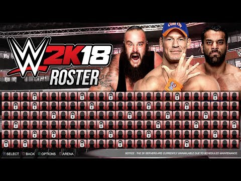 WWE 2K18 Roster - 195 Superstars - Legends, NXT, WCW, 205 Live - PS4/XB1 Gameplay Notion/Concept thumbnail
