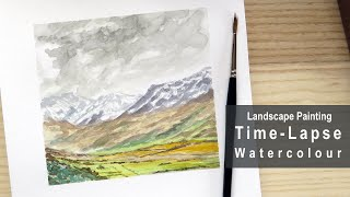 Time-Lapse Watercolour Mountain Scene