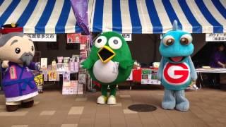 10月20日、JR新鳥栖駅で開催された「ぐるりん物産展」で突然踊りだした...