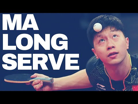 MA LONG AMAZING SERVE TRAINING - Slow Motion, Short Form, Rare Private Record @ WORLD CUP 2017